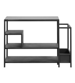Nordal Iron shoe rack with black shelf