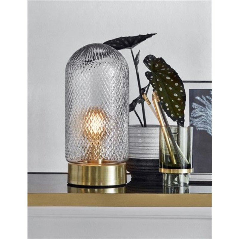 Nordal-collectie DOME lamp, handcut glass, golden base