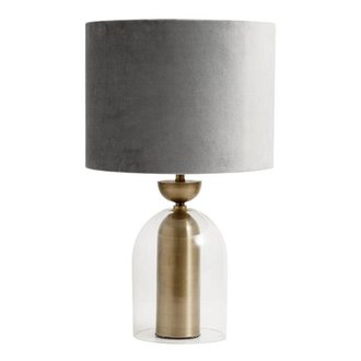 Nordal Lamp shade, velvet, grey