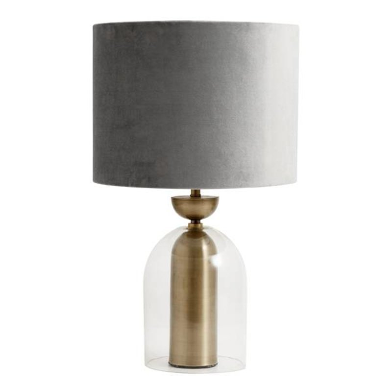 Nordal-collectie Lamp shade, velvet, grey