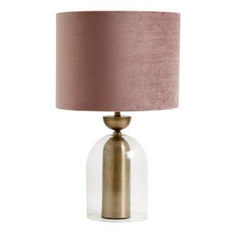 Nordal Lamp velvet Rose