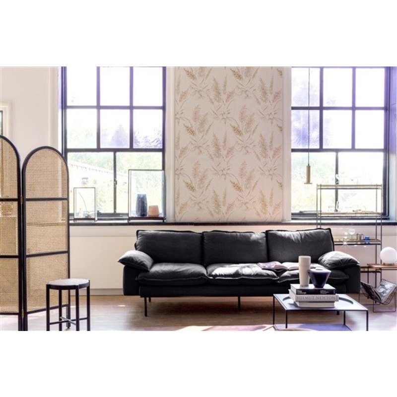 HKliving-collectie retro sofa: 3-seats, leather, black