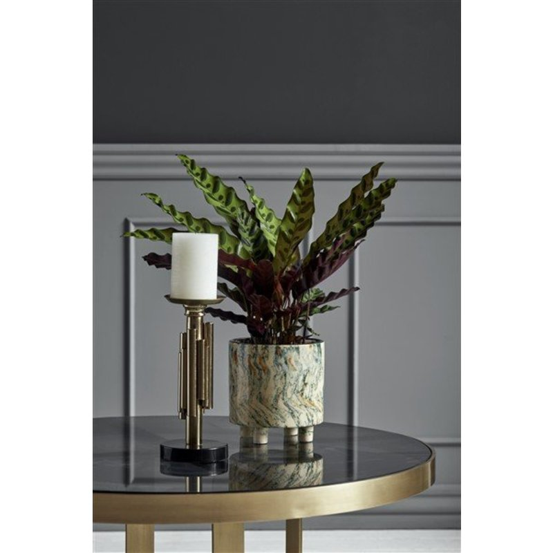 Nordal-collectie Round display table, golden/black glass
