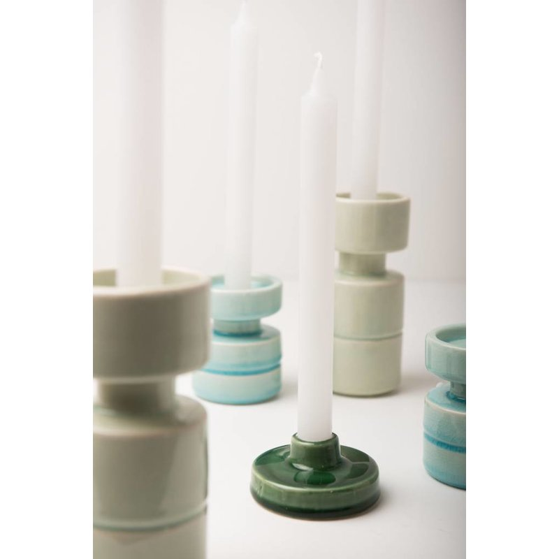 Urban Nature Culture-collectie Kandelaar Crackle aqua