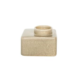 Urban Nature Culture wax light holder stone beige