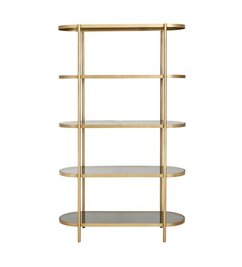 Nordal Golden display rack oval w/black glass