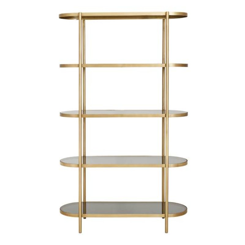 Nordal-collectie Golden display rack oval w/black glass