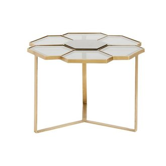 Nordal Flower coffee table, small, black/golden