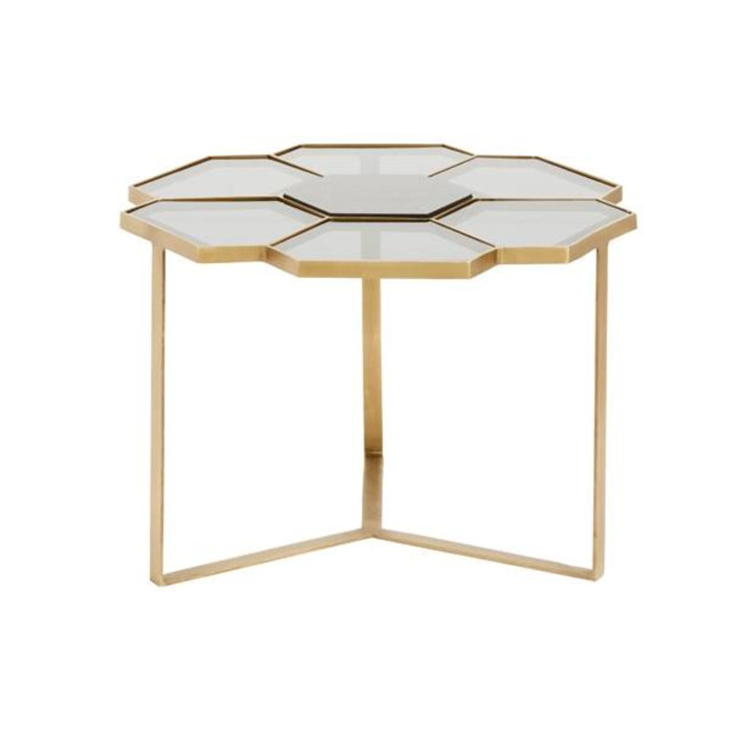 Nordal-collectie Flower coffee table, small, black/golden