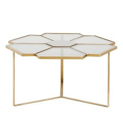 Nordal-collectie Flower coffee table, large, black/golden