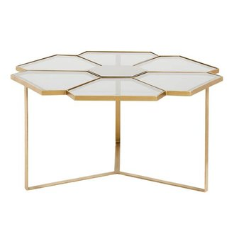Nordal Flower coffee table, large, black/golden