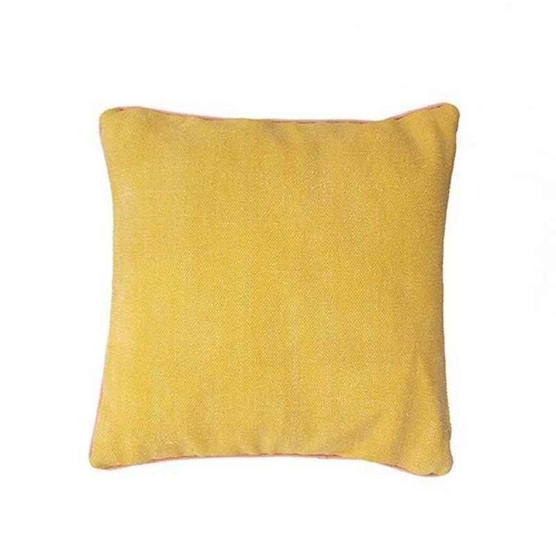 E|L by DEENS.NL-collectie Kussenhoes KO geel-antraciet