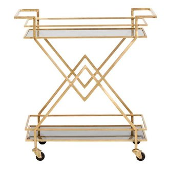 Nordal TROLLEY, golden w/black glass