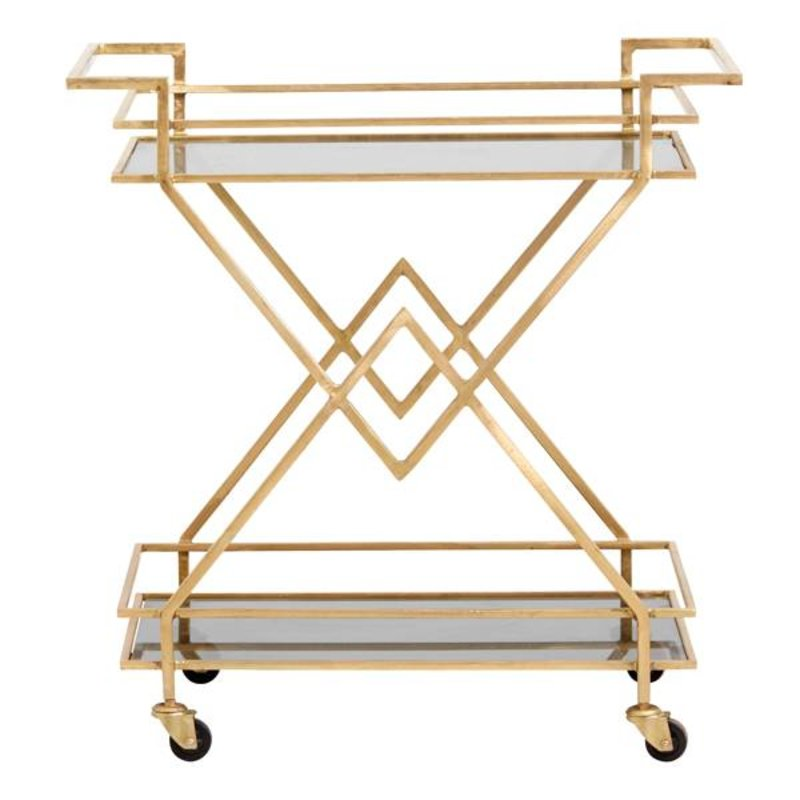 Nordal-collectie TROLLEY, golden w/black glass
