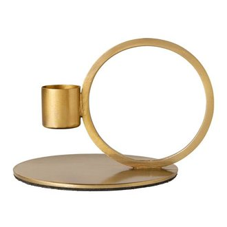 Nordal C/holder, circle, brass finish