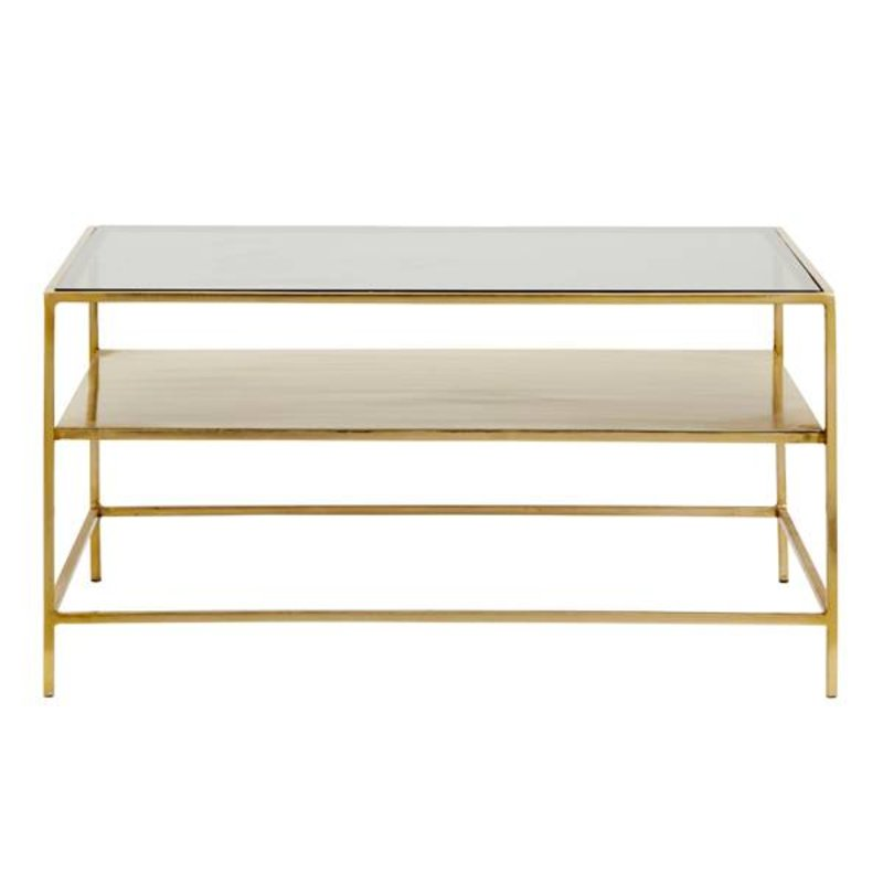 Nordal-collectie DECADENT coffee table, gold metal/black