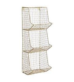 Madam Stoltz Ant.brass, wire mesh, iron, 3 tier