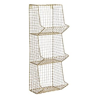 Madam Stoltz Ant.brass, wire mesh, iron, 3 tier