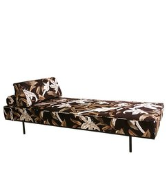 HK living-collectie Daybed tropical velvet print - green - Copy