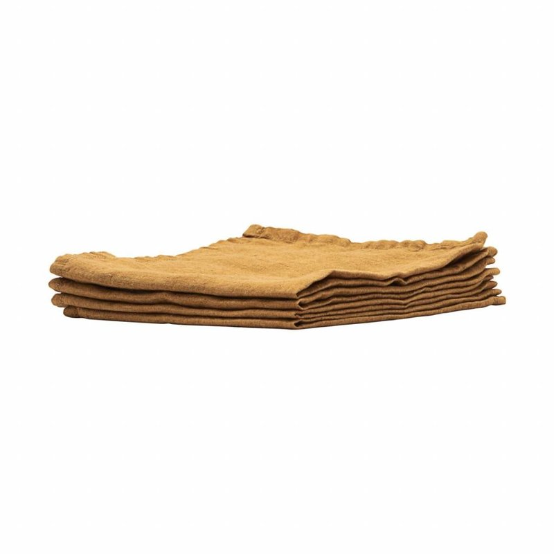 House Doctor-collectie  Linen Napkins Curry