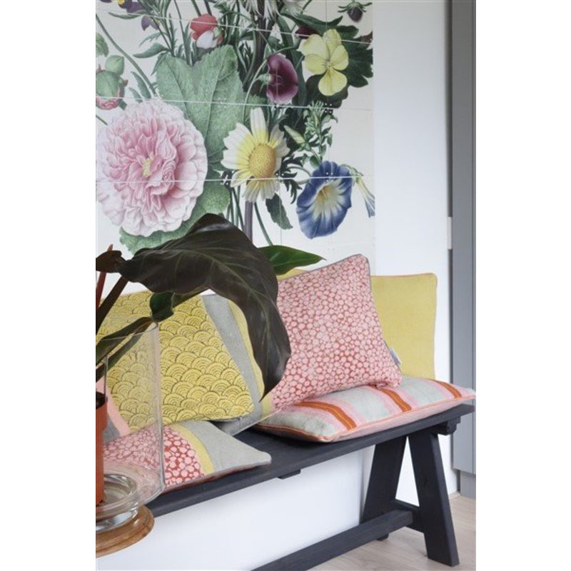 E|L by DEENS.NL-collectie Kussenhoes KATO print mermaid geel