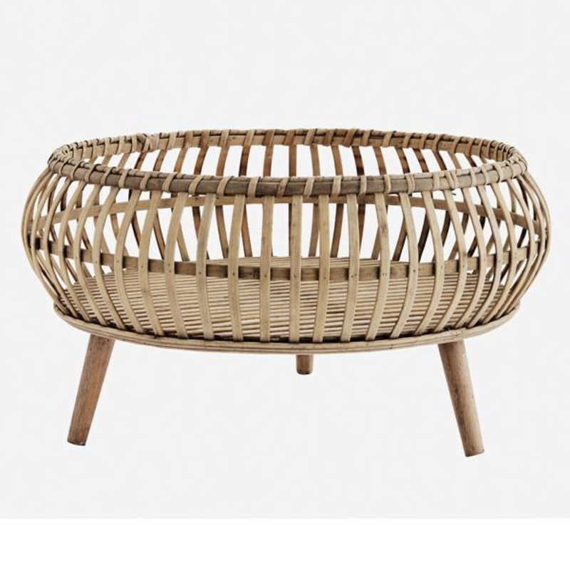Madam Stoltz-collectie Bamboo tray w/ stand