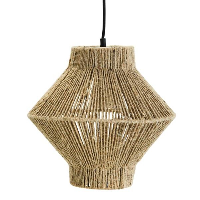 Madam Stoltz-collectie Naturel jute hanglamp