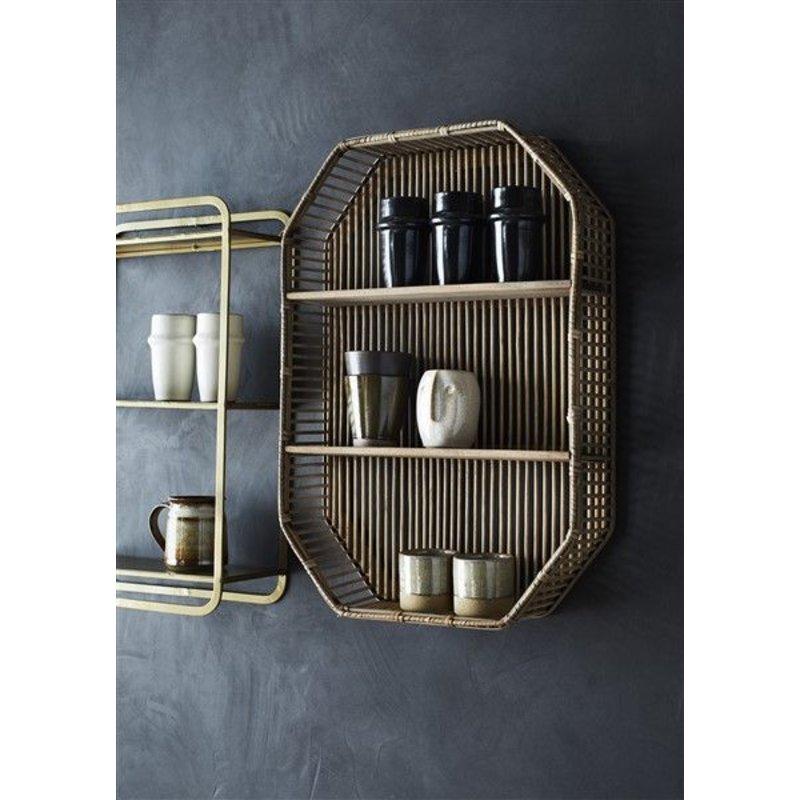 Madam Stoltz-collectie Rectangular bamboo shelf