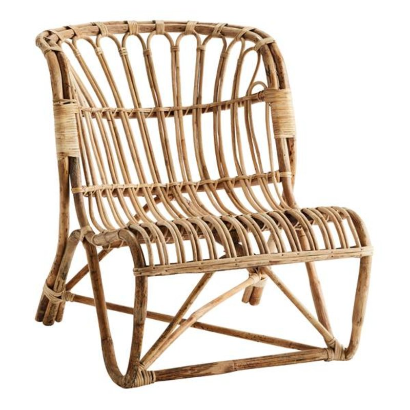 Madam Stoltz-collectie Bamboo lounge chair