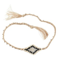 Madam Stoltz Bracelet w/ beads and tassels