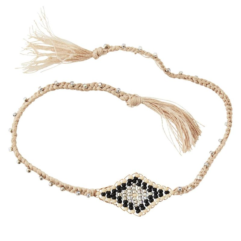 Madam Stoltz-collectie Bracelet w/ beads and tassels