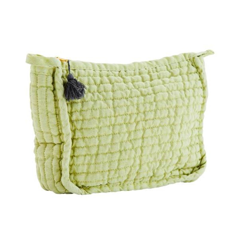 Madam Stoltz-collectie Quilted linen clutch w/ tassel