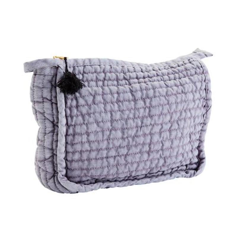 Madam Stoltz-collectie Clutch linnen Lavendel
