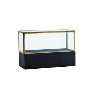Madam Stoltz Glass box w/ wood base