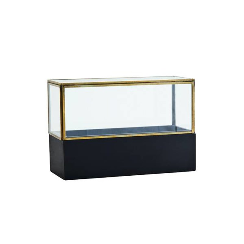 Madam Stoltz-collectie Glass box w/ wood base