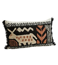Madam Stoltz-collectie Hand decorated cushion cover