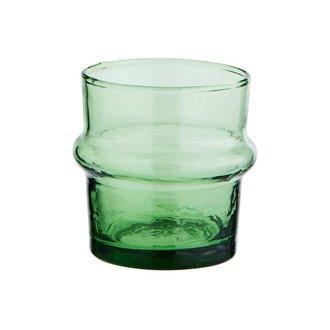 Madam Stoltz Drinkglas Beldi groen 6cm