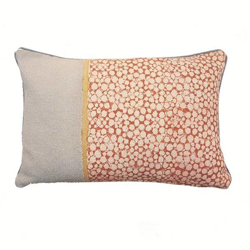 E|L by DEENS.NL-collectie E|L kussenhoes KATO stippenprint roze