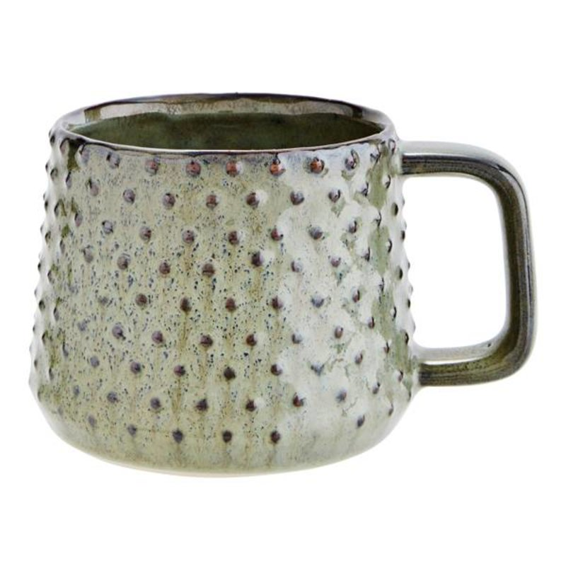 Madam Stoltz-collectie Stoneware mug - green
