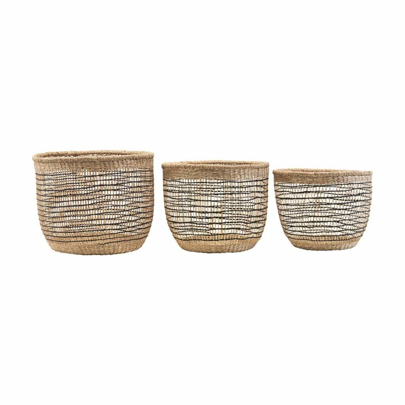 House Doctor-collectie Basket, Shape mix, Set of 3 sizes