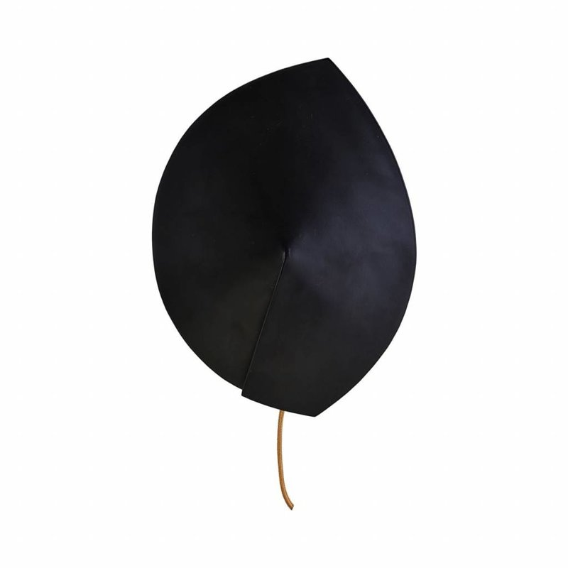 House Doctor-collectie Wall lamp, Leaf, Black
