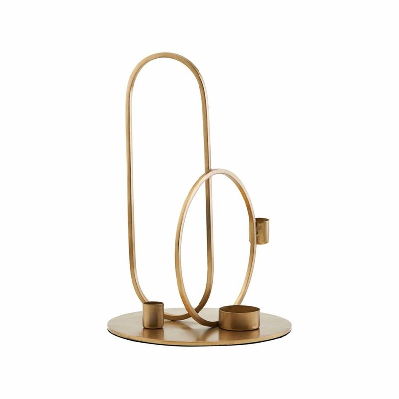 House Doctor-collectie Candle stand, Cirque, Brass finish