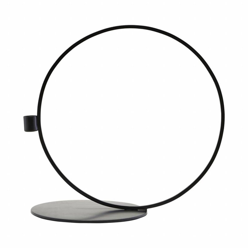 House Doctor-collectie Candle stand, Cirque, Black