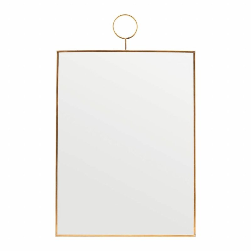 House Doctor-collectie House Doctor Spiegel  Loop Brass 40 cm