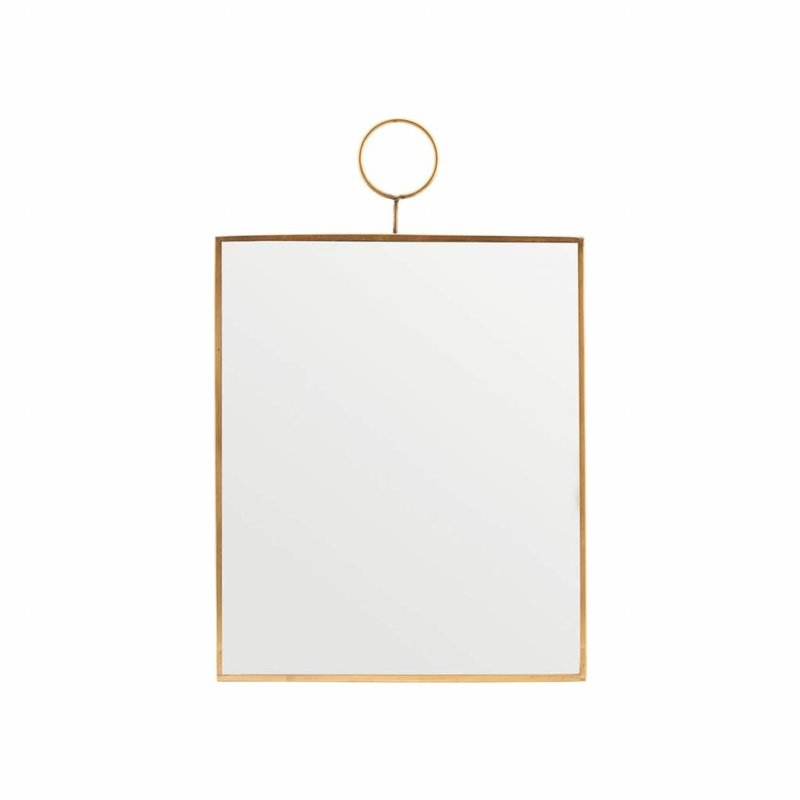 House Doctor-collectie House Doctor Spiegel  Loop Brass 30 cm