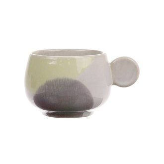 HKliving gallery ceramics: coffee cup yellow/lilac