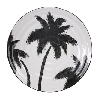 HK living jungle' porcelain serving plate palms