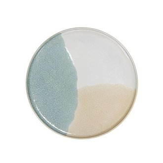 HK living gallery ceramics: round side plate mint/nude