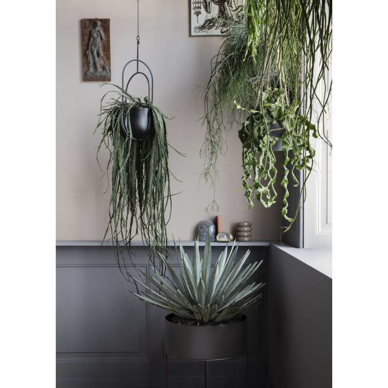 ferm LIVING-collectie Hanging Deco Pot - Black