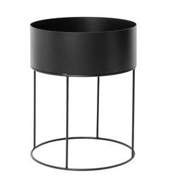 ferm LIVING-collectie Plant Box - Black - Round